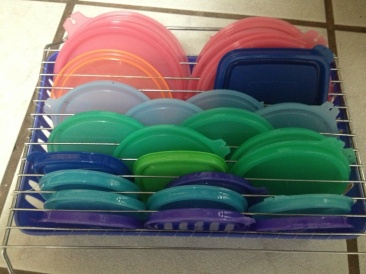 Tupperware Lid Rack